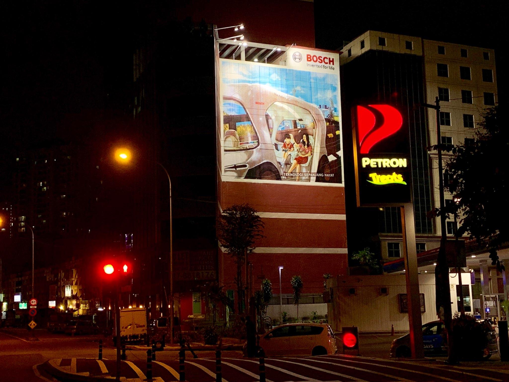 Malaysia, Billboard lighting project